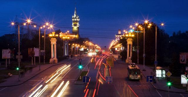 Вид на Соцгород со стороны площади Поляка. Запорожье